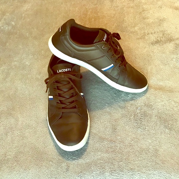 855529586 Lacoste Other - Men s Lacoste Sport brown leather sneakers - 9.5